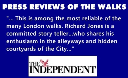 The Independent newspaper review of Richards London Walking Tours.