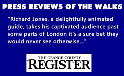 The Orange County Register quote on Richard Jones's Jack the Ripper Tour.
