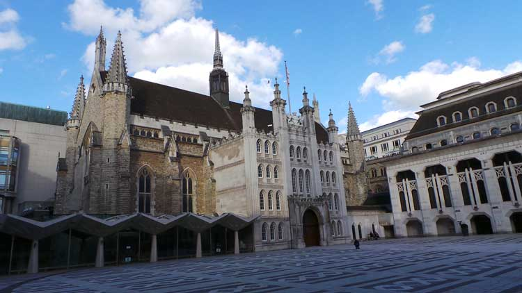 The City of London's Guildhall.