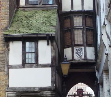 The gate to St Bartholomew the Great.