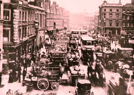 Commercial Street as it was in 1888.