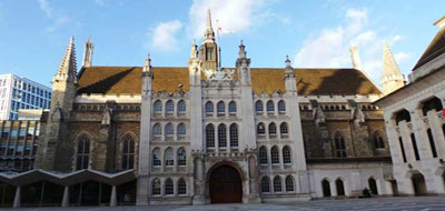 An exterior view of London's Guildhall