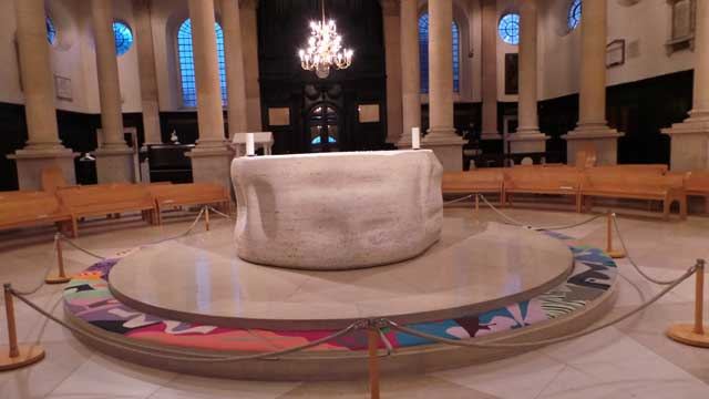 The Henry Moore altar in St Spehen's Walbrook.