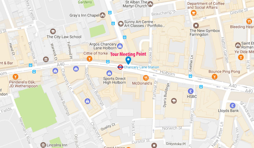 Map Of London Attractions And Hotels.The Inns Of Court Tour A Walk Through Legal London