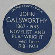 The Blue Plaque to the author John Galsworthy