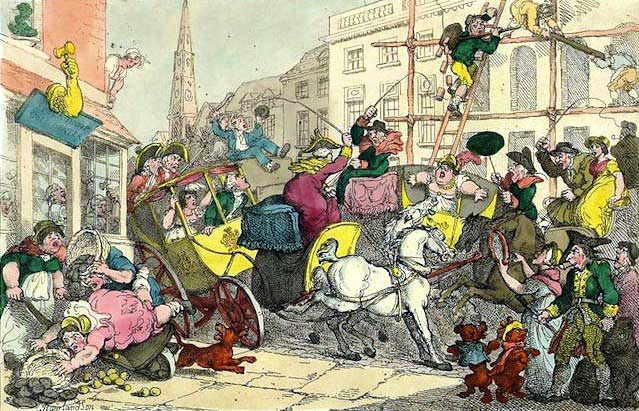 A cartoon showing people enjoying London.