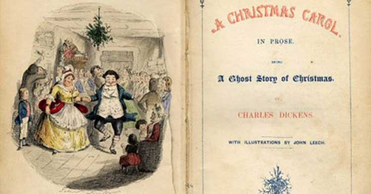The cover page of A Christmas Carol.