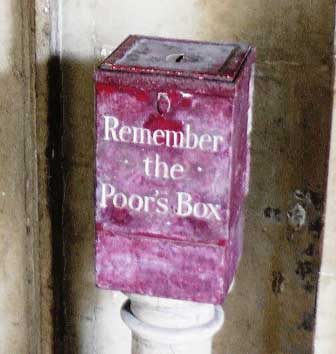 The Remember the Poor's Box at Barts Hospital.