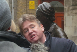 Richard Jones by the Cordwainer statue.