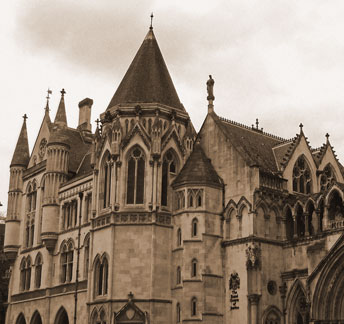 The Royal Courts of Justice.