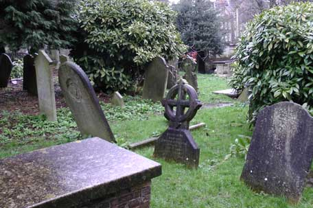 The old churchyard.