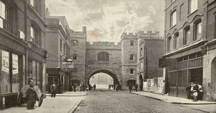 An old photograph of St John's Gate.