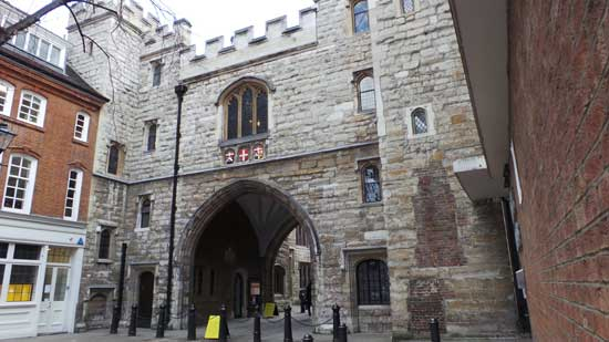 A view of St John's Gate.