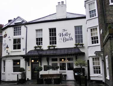 An exterior view of the Holly Bush Pub.