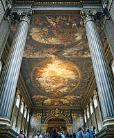 A view of the Old Royal Naval College Painted Hall.
