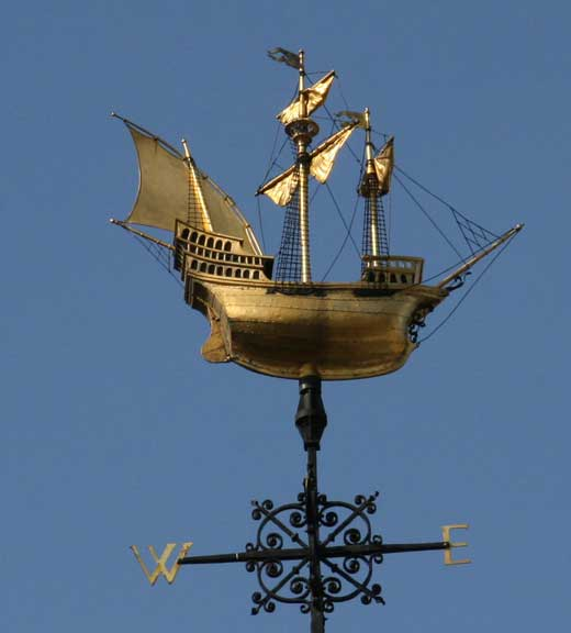 The weather vane atop Two Temple Place.
