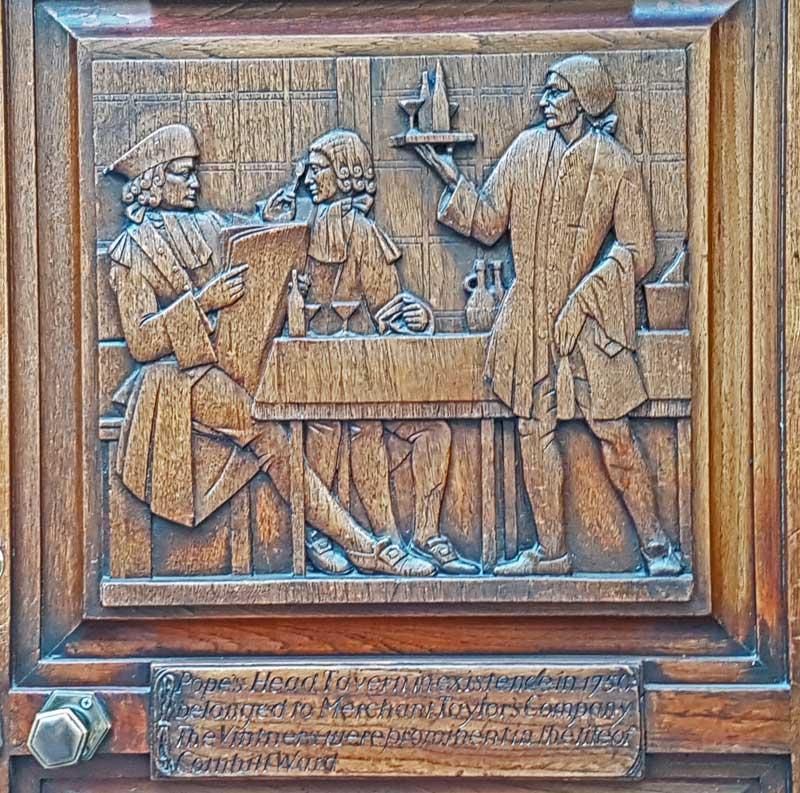 The Walter Gilbert Doors - Cornhill
