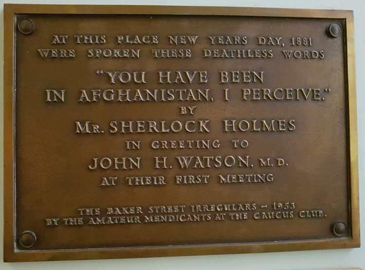 Fantastic The Plaque For Sherlock Holmes's Meeting With Watson QT29