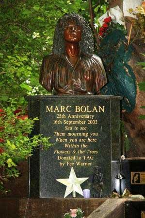 The Marc Bolan Memorial - Barnes Common.