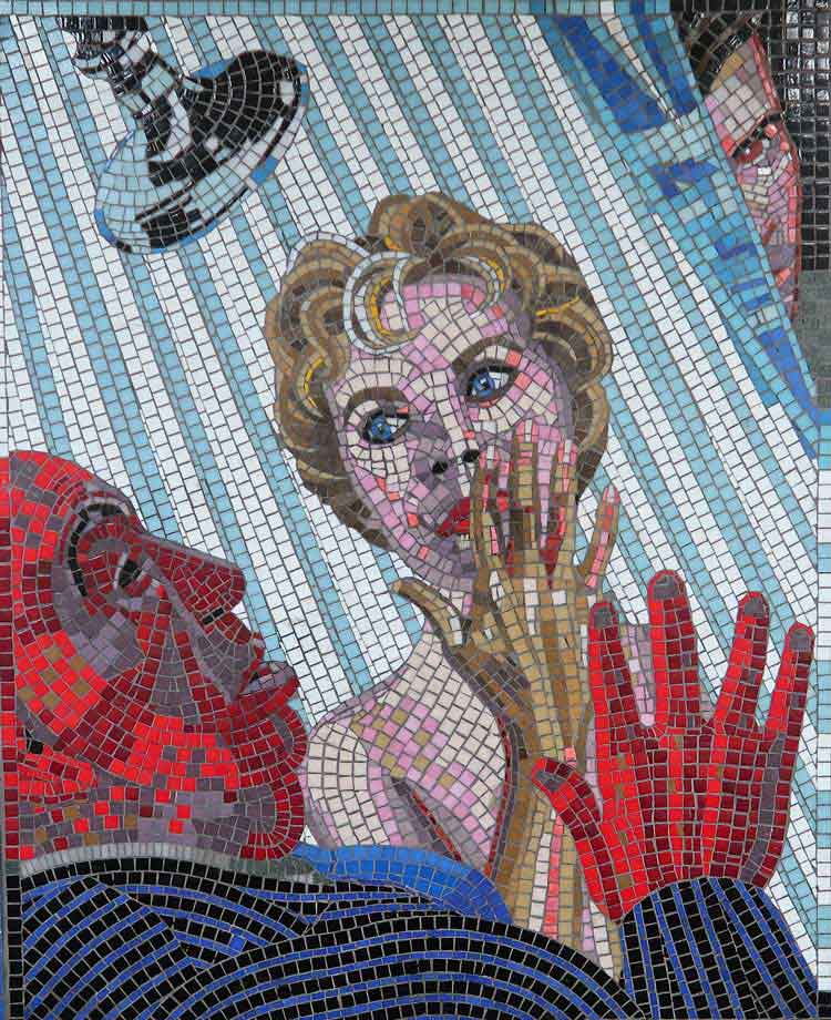 Mosaic of Alfred Hitchcock's Film Psycho