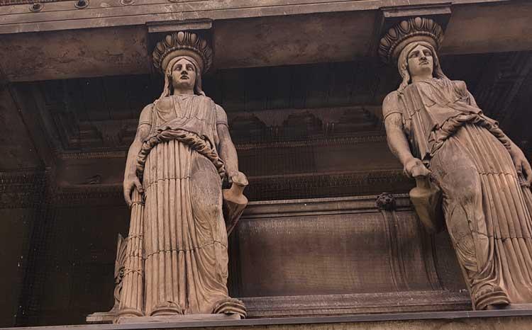 the st pancras caryatids a bit of athens in london
